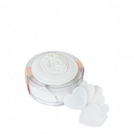 Boîte de feuilles de savon petits coeurs parfum Jasmin
