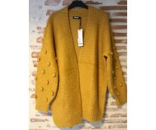 Gilet long moutarde taille S/M